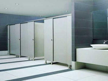 China High Density Toilet PVC Partition Board Thin Thickness 15mm Glossy Solid Color distributor