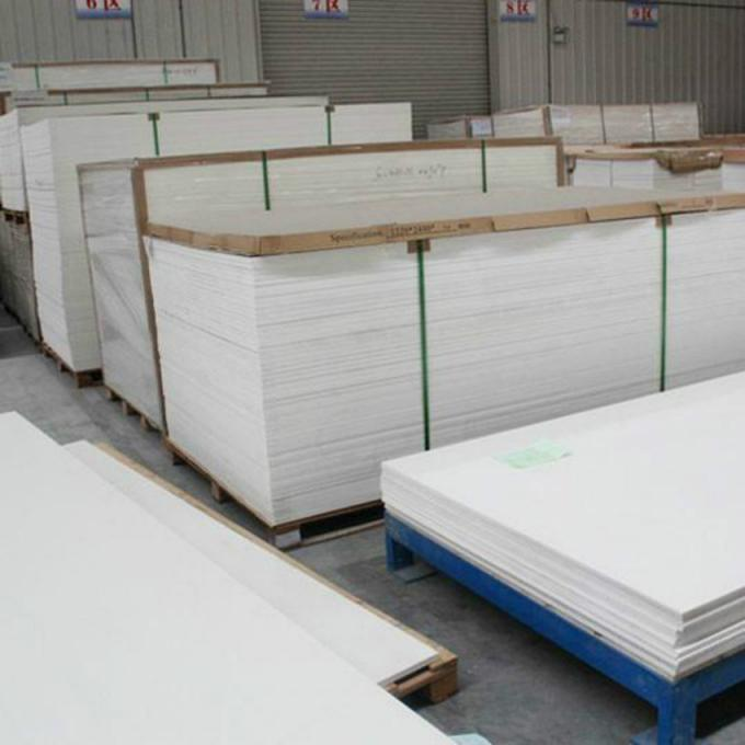 18mm Thick PVC Construction Board , Anti Flame Cabinet High Density Foam Board
